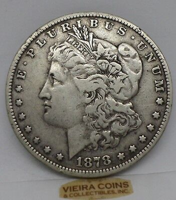 1878 DOUBLED TAIL FEATHERS  Morgan Silver Dollar, Free Shipping - #9782