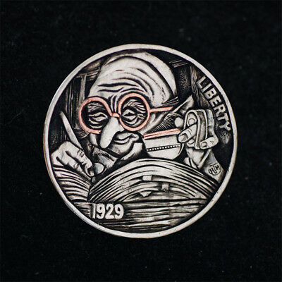 Hobo Nickel # HN17-107  Copper inlay by David HJ He(HJH)