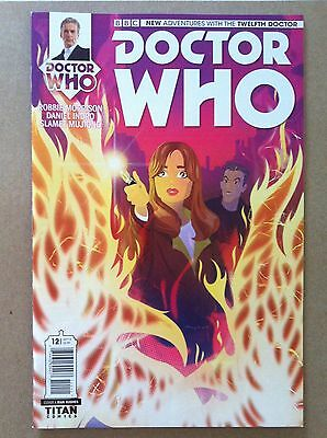 DOCTOR WHO 12th (2014) #12 COVER A by RIAN HUGHES MORRISON TITAN NM 1ST PRINTING