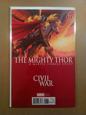 "Mighty Thor (2015) #6 Joyce Chin ""civil War"" Variant Cover Nm 1St Printing"