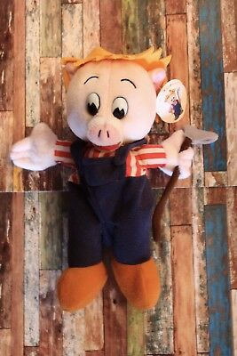 NWT Vintage Piggly Wiggly Plush Collectible Doll - Mr. Pig Farmer Plush Doll