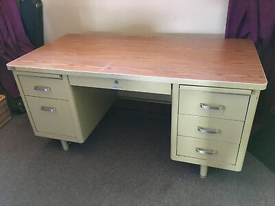 McDowell and Craig Mid Century Steelcase Tanker desk