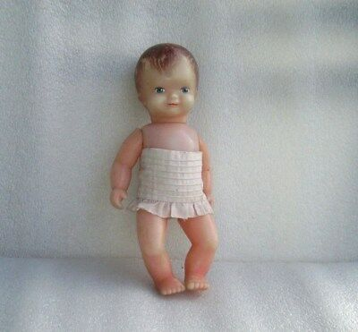 Vintage Plastic Baby Doll, Germany?, 1960-70