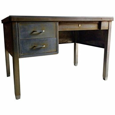 Fabulous Antique 20th Century Steel Industrial Writing Desk