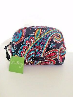 NWT Vera Bradley Travel MEDIUM Zip Cosmetic Bag In Parisian Paisley