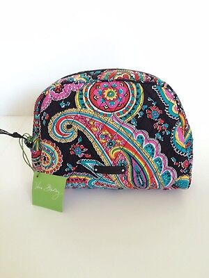 NWT Vera Bradley Travel LARGE Zip Cosmetic Bag In Parisian Paisley
