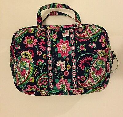 NWT Vera Bradley Travel GRAND  Cosmetic Bag In Petal Paisley
