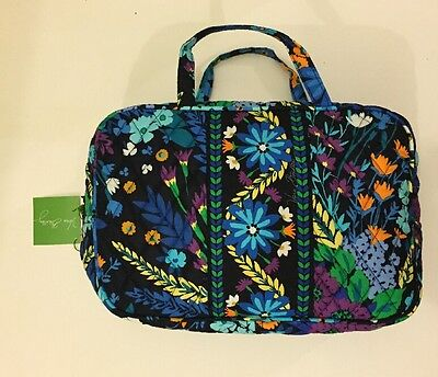 NWT Vera Bradley Travel GRAND  Cosmetic Bag In Midnight Blues