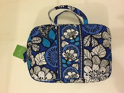 NWT Vera Bradley Travel GRAND  Cosmetic Bag In Blue Bayou