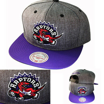 Mitchell   Ness NBA Toronto Raptors Snapback Hat Cation 2T Grey Purple Cap 4fb6ee11c81a