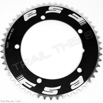 """FSA PRO TRACK 50T X 144MM BLACK BICYCLE CHAINRING FOR 1//2/"""" X 1//8/"""" CHAINS"""