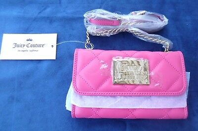 NWT JUICY COUTURE Quilted Crossbody Bag Wallet Hot Pink Retail  55 ... 201deec87