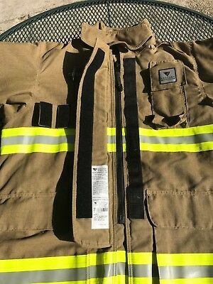 Veridian Firefighter New Turnout Coat Defender $1400+ Rescue Nhra Racing Fire Lg