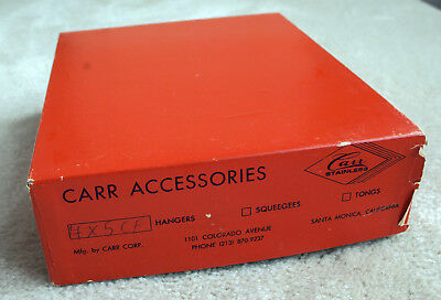 Carr Stainless Steel 4x5 Film Hangers MADE IN the U.S.A. 12 in original box.