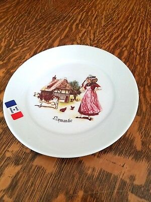 Porcelaine De Lologne Limoges Made In France Dessert/Cheese Plate Normandie