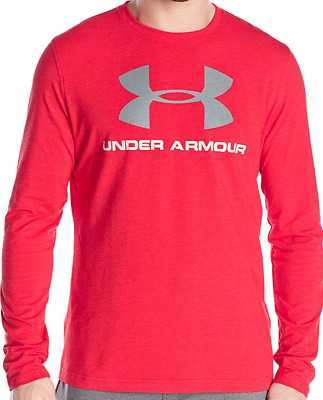 Under Armour Men's Sportstyle Long Sleeve T-Shirt Red Size SM
