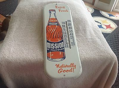 Vintage Mission of California Advertising Thermometer