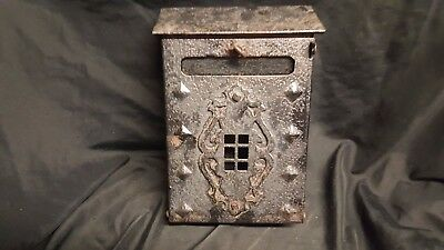 Vintage 1910  Mission Style Iron  Mail Box