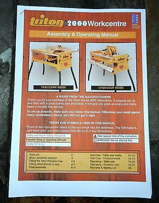 Triton 2000 Workcentre Operating Manual