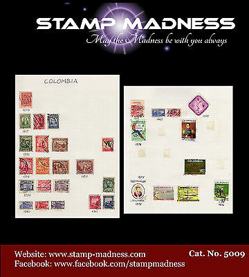 Colombia Collection 1904 - 1976 Stamps are hinged on sheet bulk estate buy