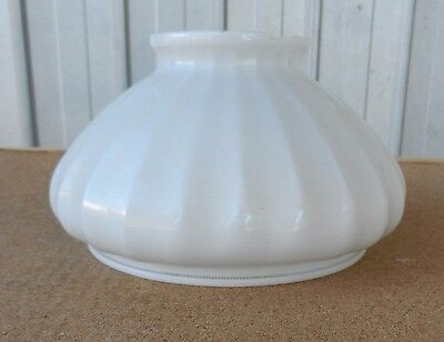 Milk Opal Glass Lamp Shade Electric Kerosene Oil Banquet Table C Vintage