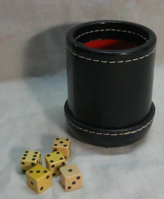 Used Shakers Dice Cup With Dice In Excellent Condition For Games & Gambling