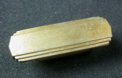 "Antique classic ArtDeco brass dresser door pull knob handle 2-1/4"" stair stepped"
