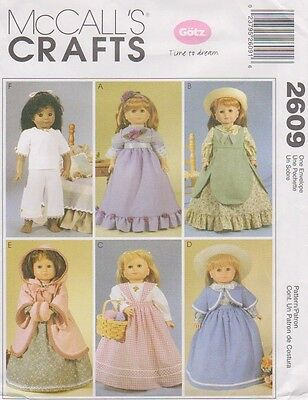 """Sewing Pattern For 18""""  Doll's Historical Wardrobe"""