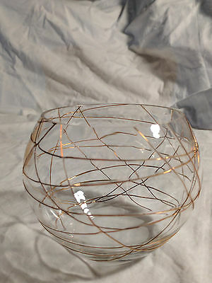 PartyLite Calypso Gold Tealight Candle Holder P7116 Retired