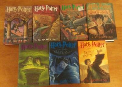 Harry Potter complete hardcover book set 1-7 by J. K. Rowling