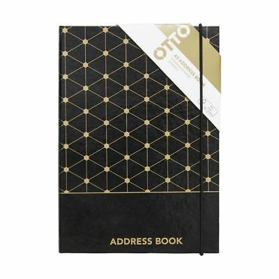 Otto A5 Address Book Black and Gold