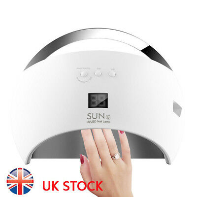SUNUV 48W SUN6 Professional LED UV Nail Dryer Nail Lamp Led UK Plug New