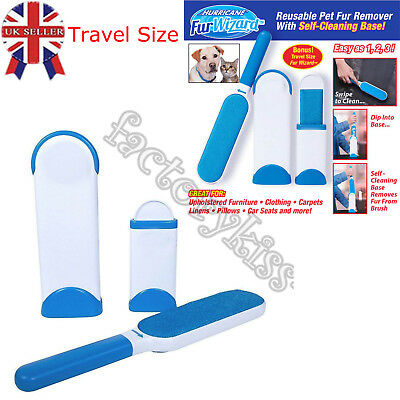 Pet Fur Lint Remover Dog Cat Hair Shedd Cleaner Brusher Brush Cleaning House UK