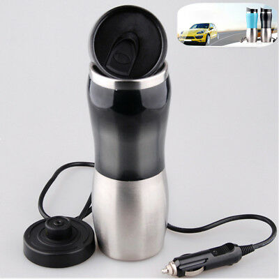 12V Car Stainless Steel Kettle Cup Warm Water 100° Hot Water-Heater Newest