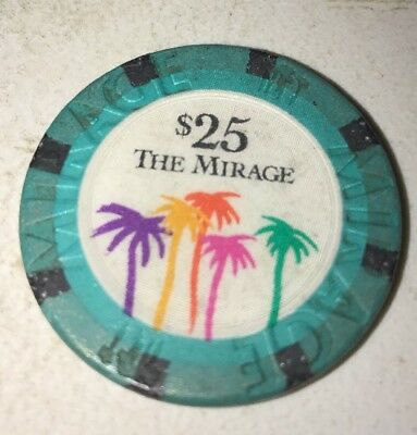 The Mirage $25 Casino Chip Las Vegas Nevada 2.99 Shipping