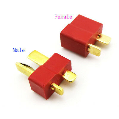 NEW T-Plug Deans Connector Male & Female Micro Deans T-Type Copper Plug for RC