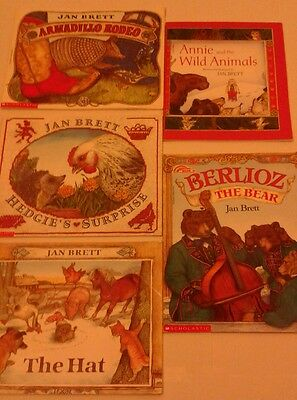 Jan Brett Books, Lot of 5