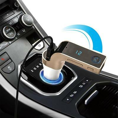 Bluetooth Stereo Car Kit Handsfree FM Transmitter Lettore MP3 USB AUX Pink