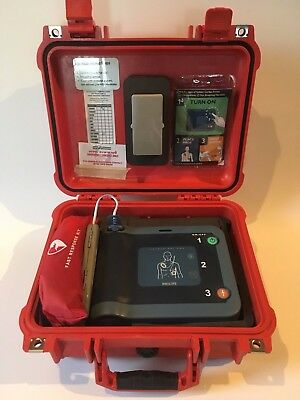 Philips HeartStart FRx AED w/ Battery, Response kit, Pads, and Pelican Case