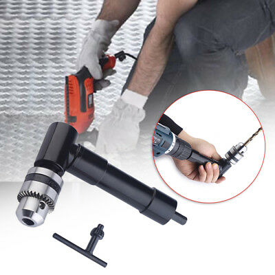 Aluminium Head Drill Attachment 90 Degree Chuck Key Adapter Right Angle Drilling
