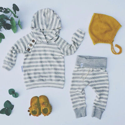 US Stock Toddler Baby Boys Hoodie Tops Pants Home Outfits Set Clothes 2Pcs Set