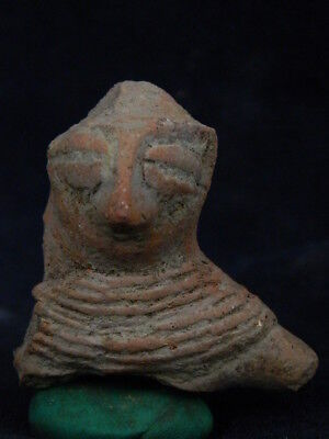 """Ancient Indus Valley Teracotta Mother Goddess Bust C.600 Bc No Reserve Price  """""""""""