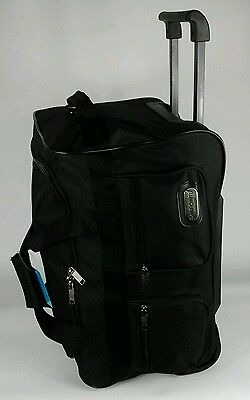 Small Trolley Bag Holdall On Wheels Hand Cabin Overnight Luggage Case Travel
