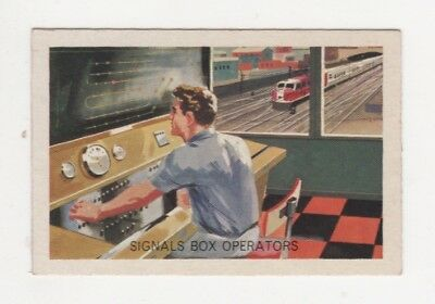 Australian Trade card - Railway Signal Box Operators