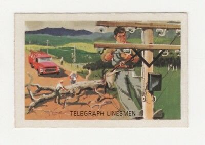 Australian Trade card - Postmaster General Telegraph Linesmen