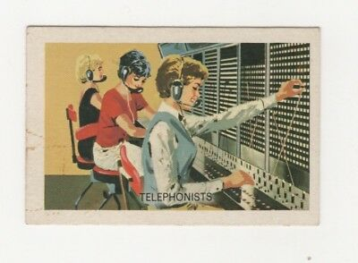 Australian Trade card - Telephonists at the switchboard