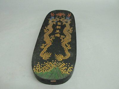 Chinese Black Ink Sticks / Ink Cakes With Two Dragon