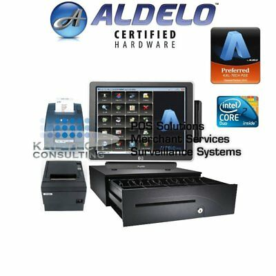 Aldelo Pro Bar Grill Restaurant Package Hp All-In-One Pos System 3Gb Ram Ssd Hdd