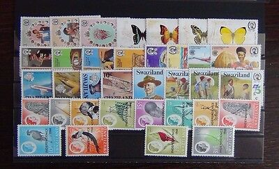 Swaziland 1968 1983 sets Butterflies Scouts Flight Duke Edinburgh etc  MNH