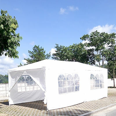 3X6M Party Tent Canopy Outdoor Wedding Gazebo Marquee Event Market w/6 Side Wall